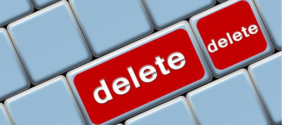 Delete, delete, delete